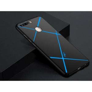 Пластиковый непрозрачный матовый чехол с улучшенной защитой торцов текстура Линии для Huawei Honor 9 Lite