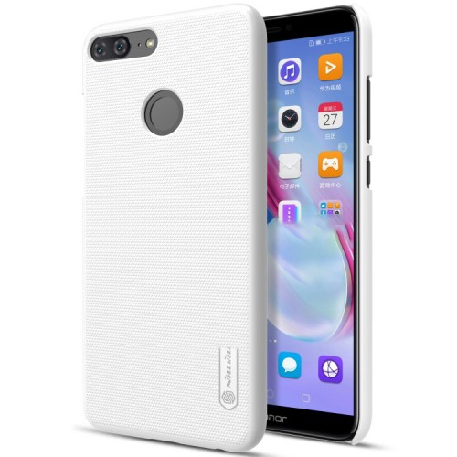 Пластиковый непрозрачный матовый нескользящий премиум чехол с повышенной шероховатостью для Huawei Honor 9 Lite Черный