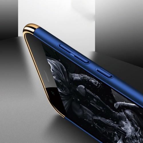 Двухкомпонентный пластиковый непрозрачный матовый чехол сборного типа для Huawei Honor 9 Lite Бежевый