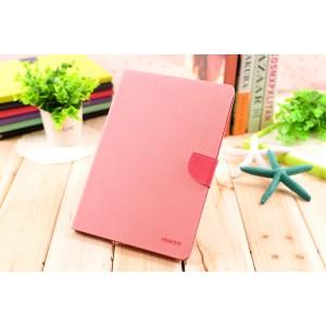 Чехол книжка подставка на непрозрачной силиконовой основе с магнитной защелкой и отсеком для карт для Ipad Air 2