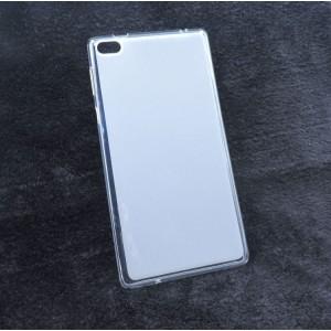 Силиконовый глянцевый полупрозрачный чехол для Lenovo Tab 4 7 Белый