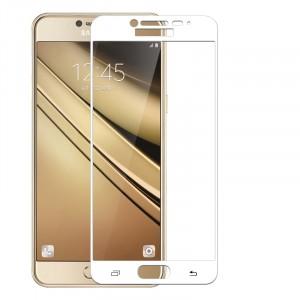 Полноэкранное ультратонкое износоустойчивое сколостойкое олеофобное защитное стекло-пленка для Samsung Galaxy C7