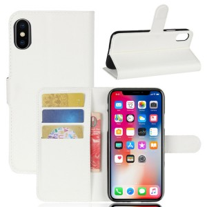 Чехол портмоне подставка на силиконовой основе с отсеком для карт на магнитной защелке для Iphone X 10/XS Белый