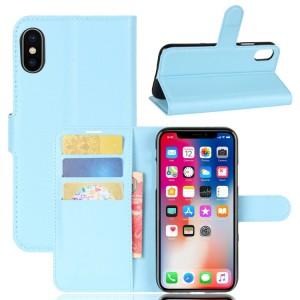 Чехол портмоне подставка на силиконовой основе с отсеком для карт на магнитной защелке для Iphone X 10/XS