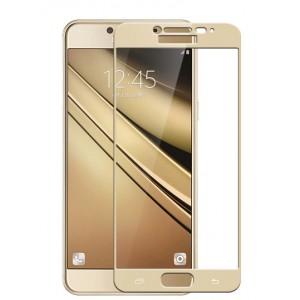 Полноэкранное ультратонкое износоустойчивое сколостойкое олеофобное защитное стекло-пленка для Samsung Galaxy C5