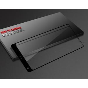 Полноэкранное ультратонкое износоустойчивое сколостойкое олеофобное защитное стекло-пленка для Xiaomi Mi Mix Черный