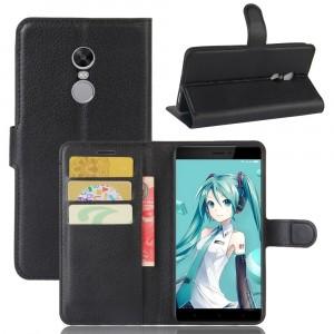 Чехол портмоне подставка на силиконовой основе с отсеком для карт на магнитной защелке для Xiaomi RedMi Note 4X
