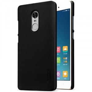 Пластиковый непрозрачный матовый нескользящий премиум чехол с повышенной шероховатостью для Xiaomi RedMi Note 4X