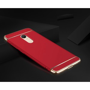 Пластиковый непрозрачный матовый чехол сборного типа с улучшенной защитой торцов для Xiaomi RedMi Note 4X