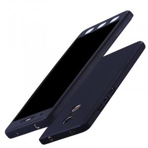 Пластиковый непрозрачный матовый чехол сборного типа с улучшенной защитой элементов корпуса для Xiaomi RedMi Note 4X