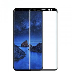 Полноэкранное ультратонкое износоустойчивое сколостойкое олеофобное защитное стекло-пленка для Samsung Galaxy S9 Plus  Черный