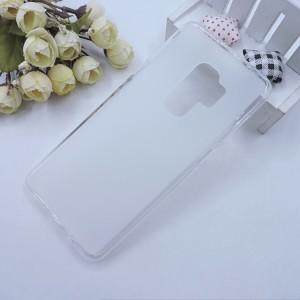 Силиконовый матовый полупрозрачный чехол для Samsung Galaxy S9 Plus Белый
