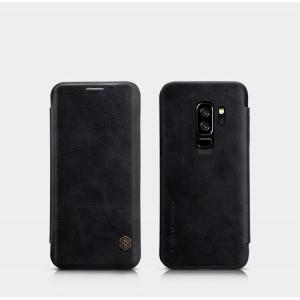 Винтажный чехол горизонтальная книжка на пластиковой основе с отсеком для карт для Samsung Galaxy S9 Plus Черный