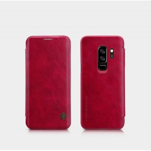 Винтажный чехол горизонтальная книжка на пластиковой основе с отсеком для карт для Samsung Galaxy S9 Plus Красный
