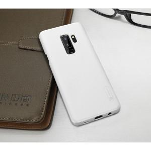 Пластиковый непрозрачный матовый нескользящий премиум чехол с повышенной шероховатостью для Samsung Galaxy S9 Plus Белый
