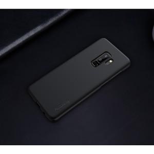 Пластиковый непрозрачный матовый нескользящий премиум чехол с повышенной шероховатостью для Samsung Galaxy S9 Plus Черный