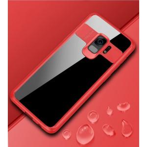 Силиконовый матовый полупрозрачный чехол с транспарентной крышкой для Samsung Galaxy S9 Plus