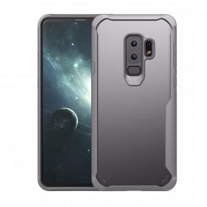 Силиконовый матовый полупрозрачный чехол с улучшенной защитой торцов для Samsung Galaxy S9 Plus Белый