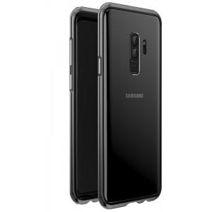 Металлический округлый бампер сборного типа на винтах для Samsung Galaxy S9 Plus Черный
