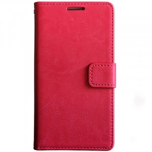 Глянцевый водоотталкивающий чехол портмоне подставка на силиконовой основе с отсеком для карт на магнитной защелке для Xiaomi RedMi 5 Plus