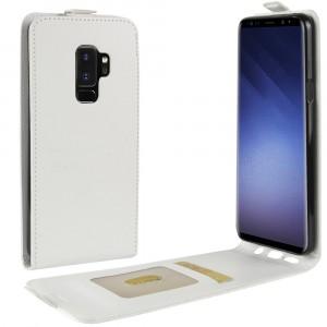 Глянцевый водоотталкивающий чехол вертикальная книжка на силиконовой основе с отсеком для карт на магнитной защелке для Samsung Galaxy S9 Plus Белый