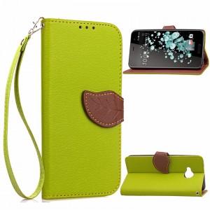 Чехол портмоне подставка на силиконовой основе с отсеком для карт на дизайнерской магнитной защелке для HTC U Play
