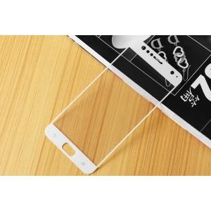 Полноэкранное ультратонкое износоустойчивое сколостойкое олеофобное защитное стекло-пленка для ASUS ZenFone 4 Selfie  Белый