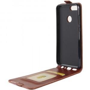 Глянцевый водоотталкивающий чехол вертикальная книжка на силиконовой основе с отсеком для карт на магнитной защелке для Huawei Honor 9 Lite