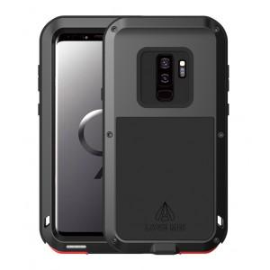 Эксклюзивный многомодульный ультрапротекторный пылевлагозащищенный ударостойкий нескользящий чехол алюминиево-цинковый сплав/силиконовый полимер для Samsung Galaxy S9 Plus
