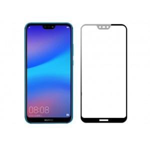 Полноэкранное износоустойчивое сколостойкое олеофобное защитное стекло-пленка для Huawei P20 Lite