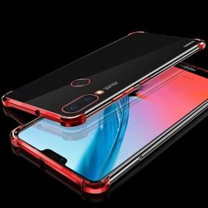 Силиконовый глянцевый полупрозрачный чехол с усиленными углами для Huawei P20 Lite