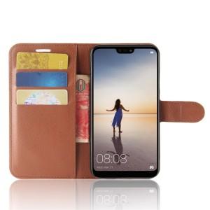 Чехол портмоне подставка на силиконовой основе с отсеком для карт на магнитной защелке для Huawei P20 Lite