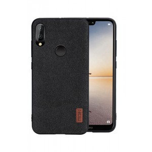 Силиконовый матовый непрозрачный чехол текстура Ткань для Huawei P20 Lite