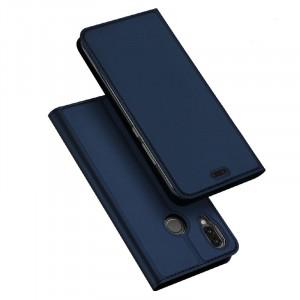 Чехол горизонтальная книжка подставка с отсеком для карт на силиконовой основе для Huawei P20 Lite