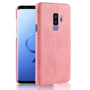Чехол накладка текстурная отделка Кожа для Samsung Galaxy S9 Plus  Розовый