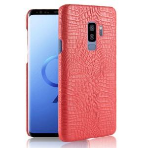 Чехол накладка текстурная отделка Кожа для Samsung Galaxy S9 Plus  Красный