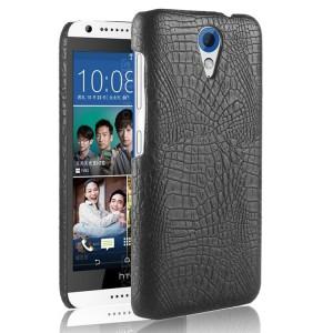 Чехол накладка текстурная отделка Кожа для HTC Desire 620  Черный