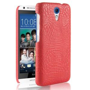 Чехол накладка текстурная отделка Кожа для HTC Desire 620  Красный