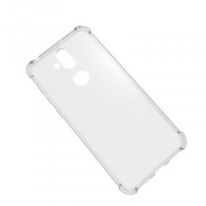 Силиконовый глянцевый транспарентный чехол с усиленными углами для ASUS ZenFone 5 Lite