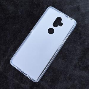 Силиконовый матовый полупрозрачный чехол для Alcatel 3V Белый