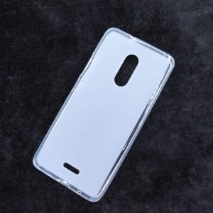 Силиконовый матовый полупрозрачный чехол для Alcatel 3C Белый