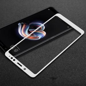 Полноэкранное ультратонкое износоустойчивое сколостойкое олеофобное защитное стекло-пленка для Xiaomi RedMi Note 5/5 Pro Белый