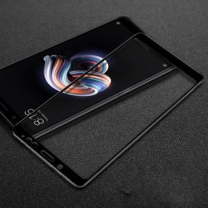 Полноэкранное ультратонкое износоустойчивое сколостойкое олеофобное защитное стекло-пленка для Xiaomi RedMi Note 5/5 Pro Черный