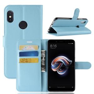 Чехол портмоне подставка на силиконовой основе с отсеком для карт на магнитной защелке для Xiaomi RedMi Note 5/5 Pro