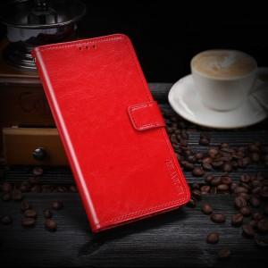 Глянцевый водоотталкивающий чехол портмоне подставка на силиконовой основе с отсеком для карт на магнитной защелке для Xiaomi RedMi Note 5/5 Pro