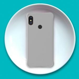 Силиконовый матовый непрозрачный чехол с нескользящим софт-тач покрытием и усиленными углами для Xiaomi RedMi Note 5/5 Pro Серый