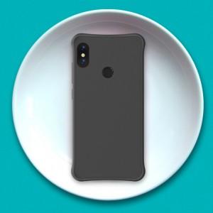 Силиконовый матовый непрозрачный чехол с нескользящим софт-тач покрытием и усиленными углами для Xiaomi RedMi Note 5/5 Pro Черный