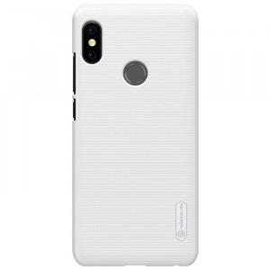 Пластиковый непрозрачный матовый нескользящий премиум чехол для Xiaomi RedMi Note 5/5 Pro Белый