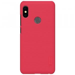Пластиковый непрозрачный матовый нескользящий премиум чехол для Xiaomi RedMi Note 5/5 Pro Красный
