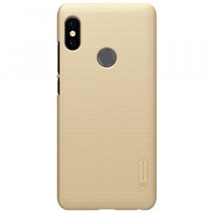 Пластиковый непрозрачный матовый нескользящий премиум чехол для Xiaomi RedMi Note 5/5 Pro Бежевый